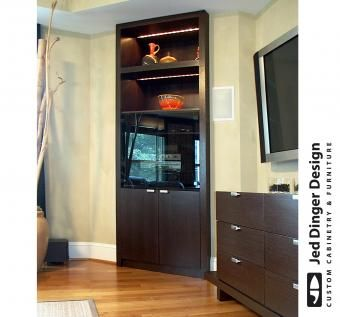 Custom Made Media Center And Storage Cabinet