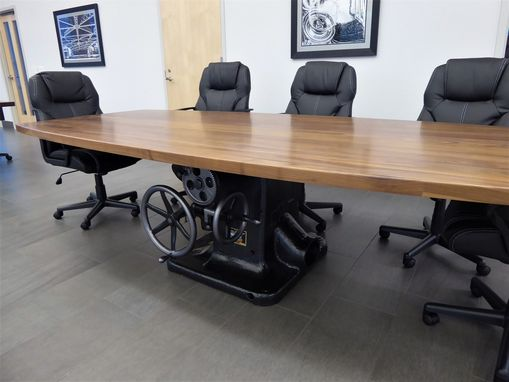 Custom Made Oliver Machinery Table Saw Conference Room Table