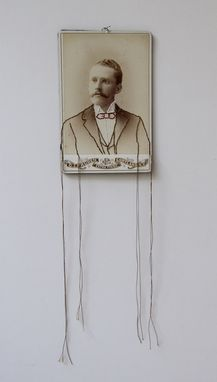 Custom Made Embroidered Cabinet Card Photographs- Forgotten Series