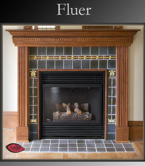 Custom Fluer Fireplace Surround By Bonton Designs
