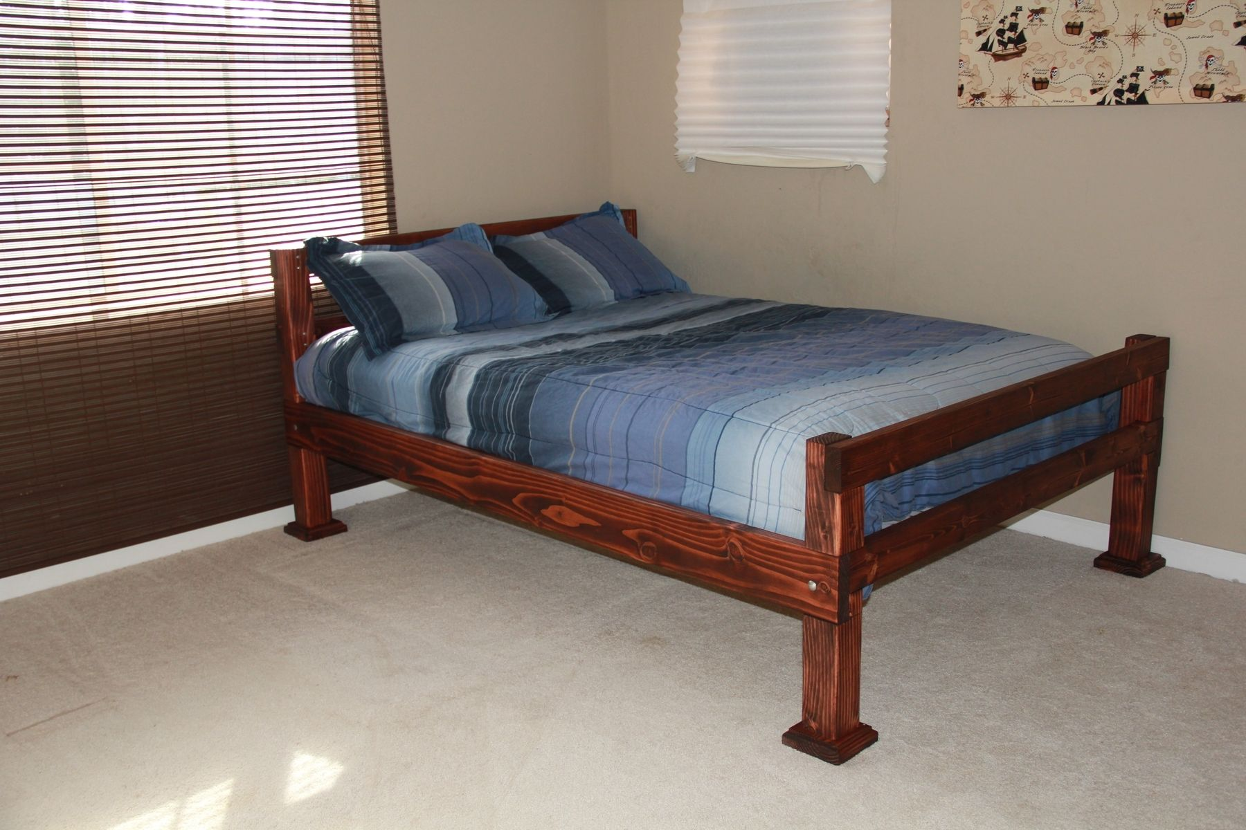 custom made rustic four corner post full size bed by scott 39 s custome woodworking. Black Bedroom Furniture Sets. Home Design Ideas