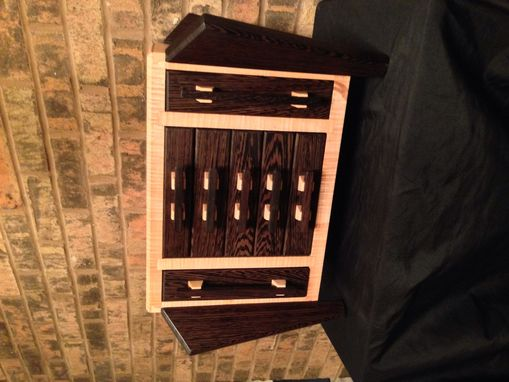 Custom Made Wenge And Curly Maple Jewelry Box