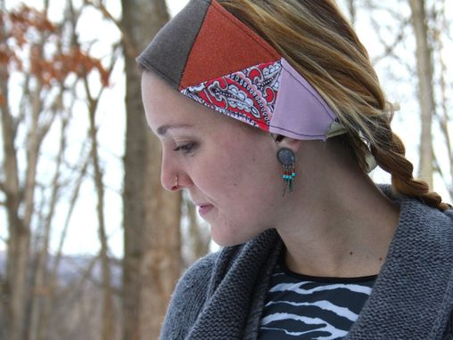Custom Made Scarlet Begonias Headband/Dreadwrap - One Size