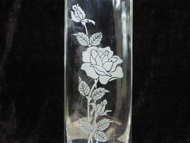 Hand Crafted Etched Flower Vase By Hale On Glass Custommade