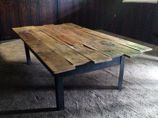 Custom Made Pallet & Recycled Steel Table