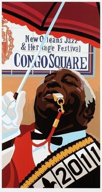 Custom Made 2011 New Orleans Jazz & Heritage Festival Congo Square Original