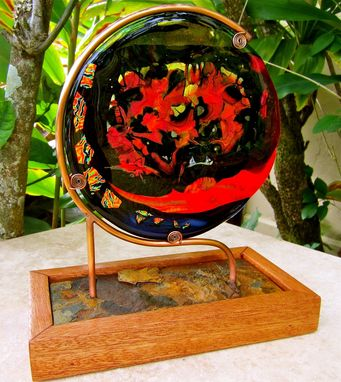 Custom Made Fused Glass Table Sculpture - Year Of The Dragon