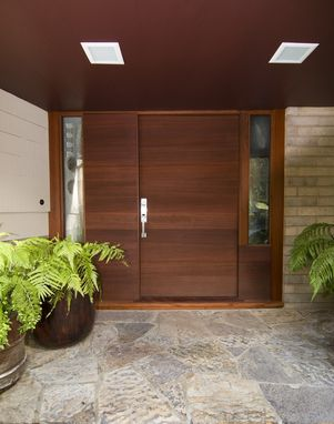 Custom Made Front Entry Door With Horizontal Grain