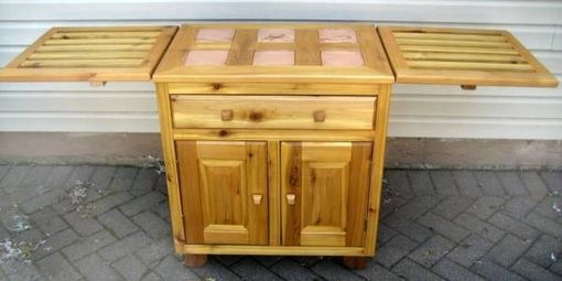 Custom Made Cedar Patio Cabinet