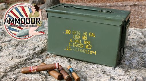 Custom Made Ammodor .50 Cal Ammo Can Cigar Humidor: The 50 Deluxe