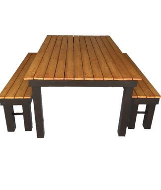 Custom Made Beautiful Outdoor Table With Benches