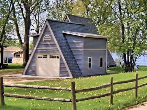 Custom Made New Construction Designer Boat House/Storage Shed