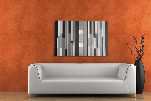 Custom Made Modern Abstract Wall Decor With Mirrors