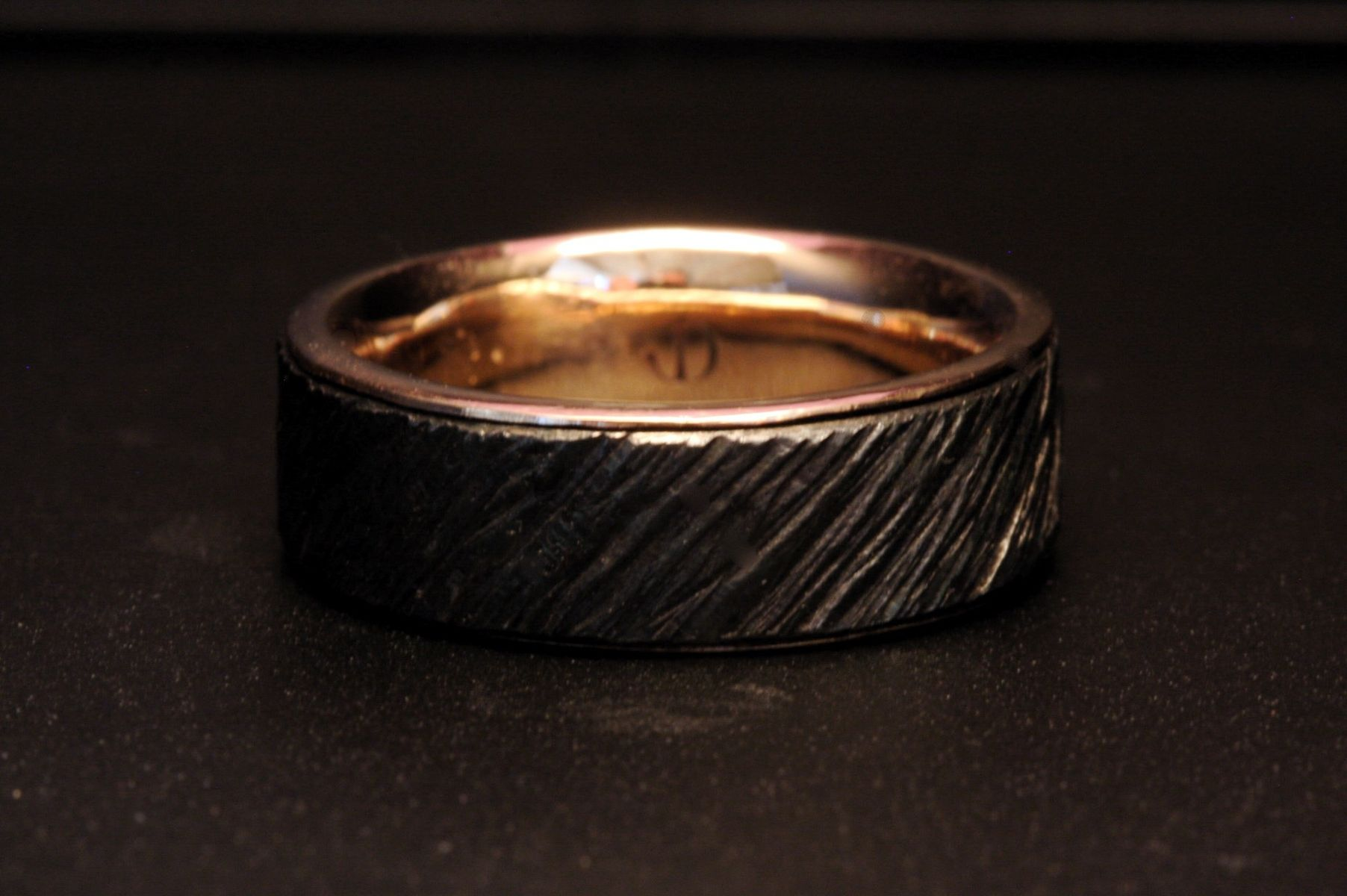 Custom Made Men S Iron And Gold Wedding Ring