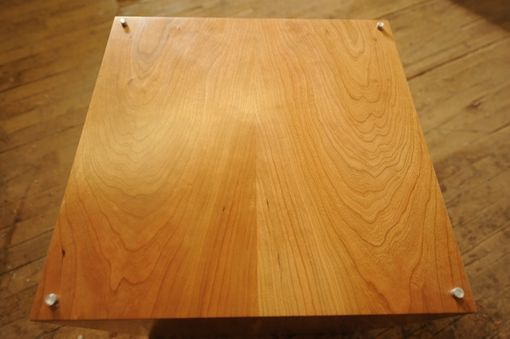 Custom Made Grain Matched Cherry End Table