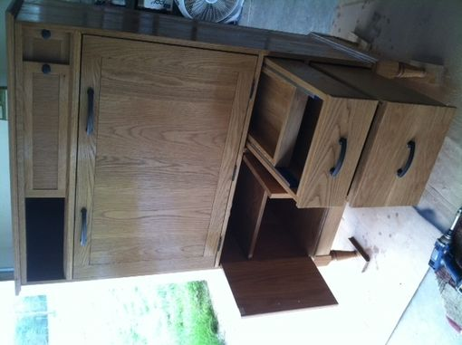 Custom Made Drop Front Office Armoire