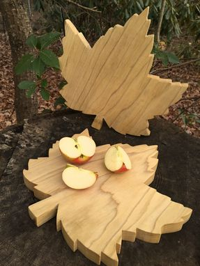 Custom Made Red Maple Leaf Cutting Board