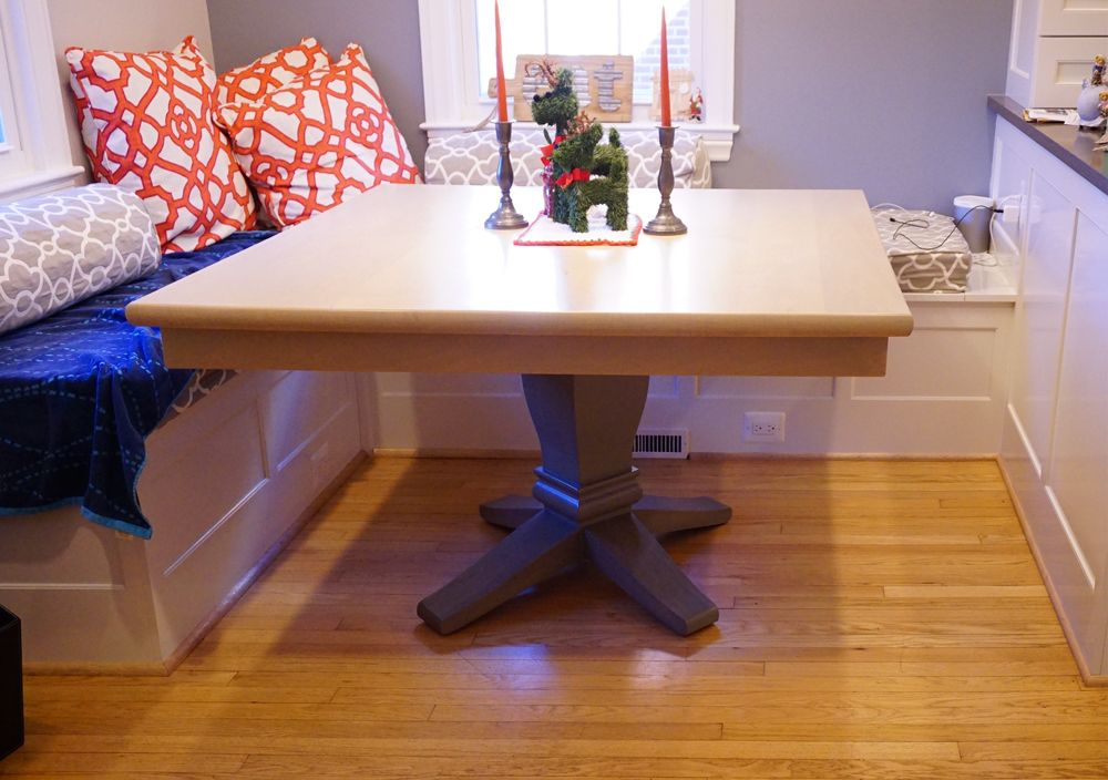 buy hand crafted square table with pedestal base made to