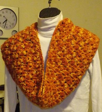 Custom Made Crochet Burned Orange Infinty Hat And Scarf