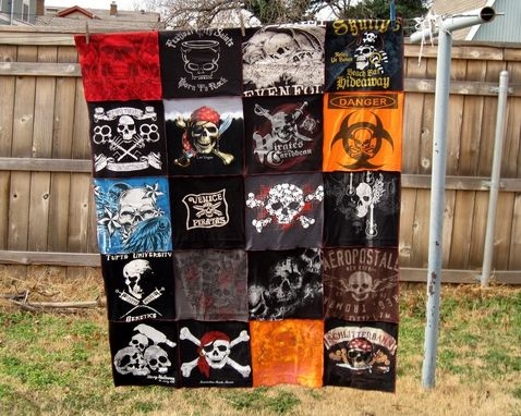 Custom Made 4' X 5', 20 T-Shirt  Custom Blanket