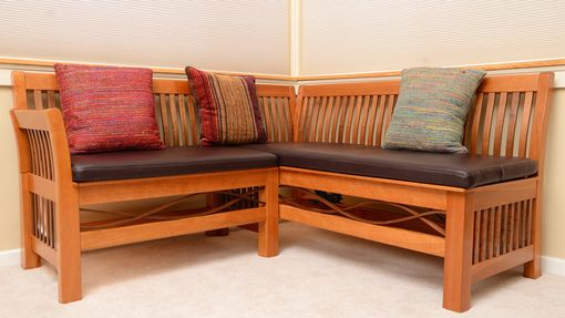 Custom Made Settee And Ottoman