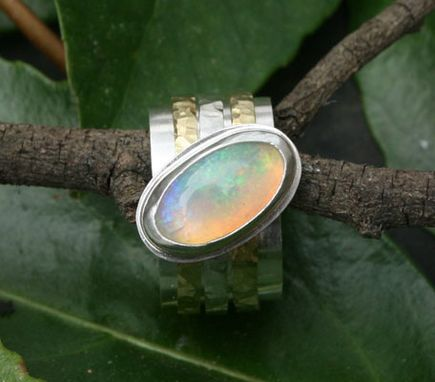 Custom Made Opal Spinner Ring