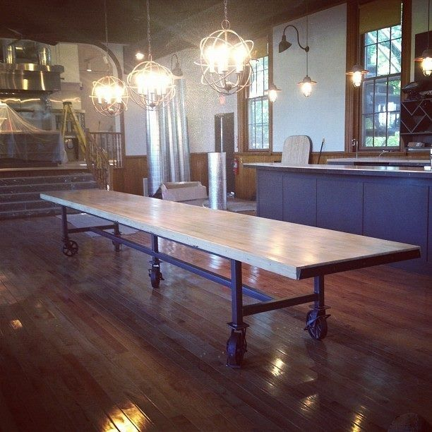 Custom Kitchen Tables: Hand Crafted Communal Dining Table By Dso Creative