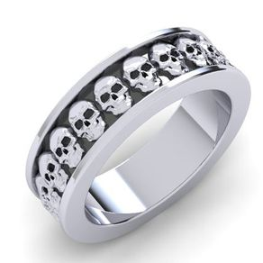 perfect skull wedding band - Skull Wedding Rings
