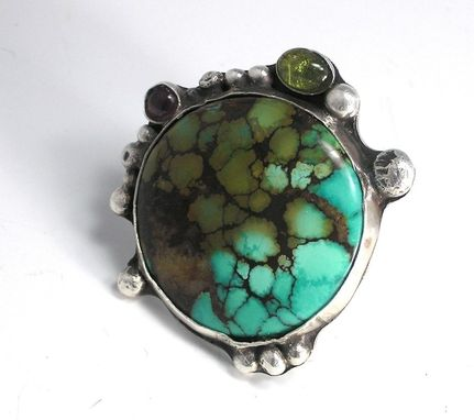 Custom Made Custom Ring Of Turquoise And Sterling