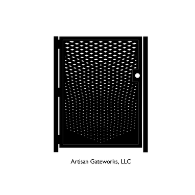 Custom Made Decorative Steel Gate - Fade - Artistic Steel Panel - Geometric Steel Art Gate - Custom Gate