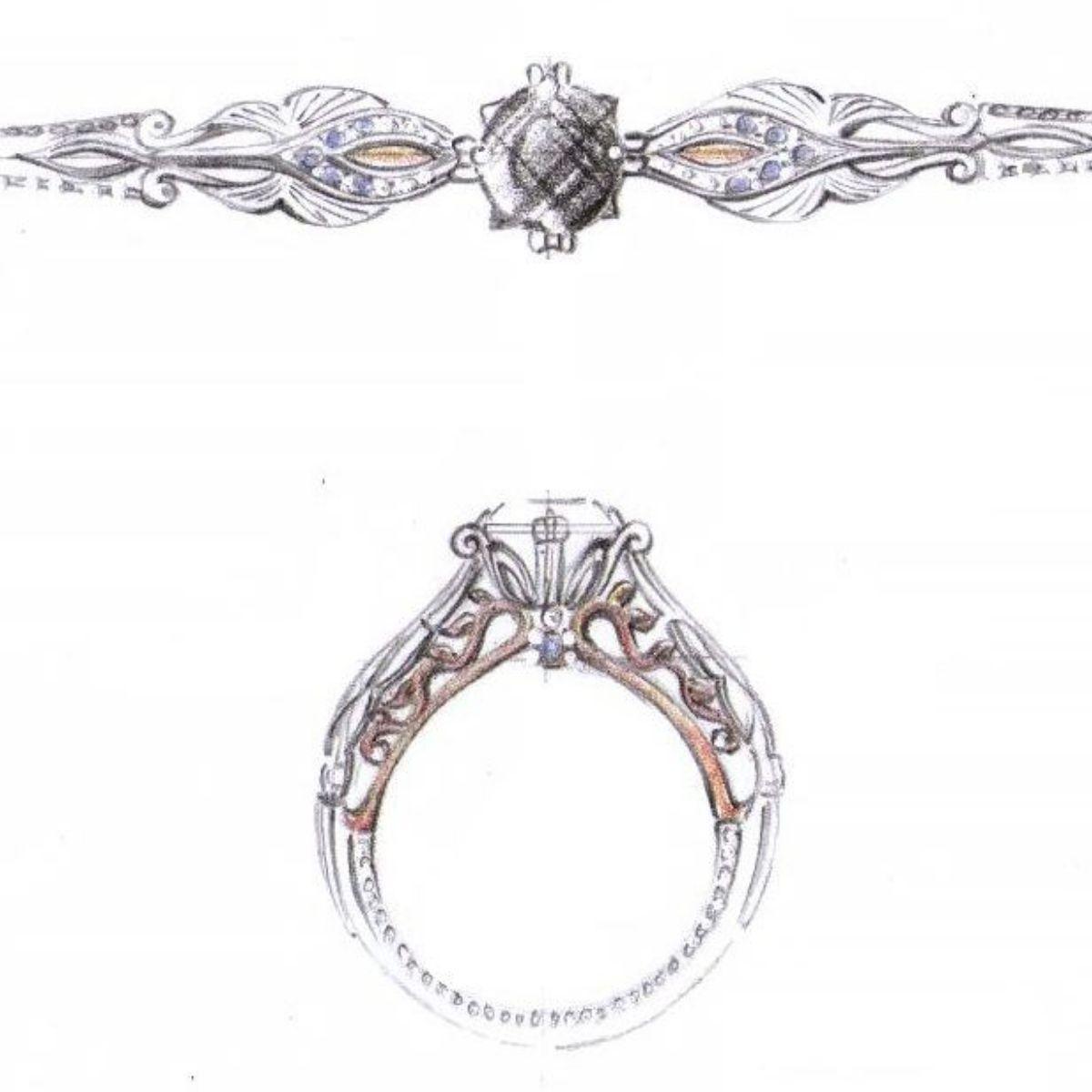 Black Diamond Engagement Rings Custommade Com
