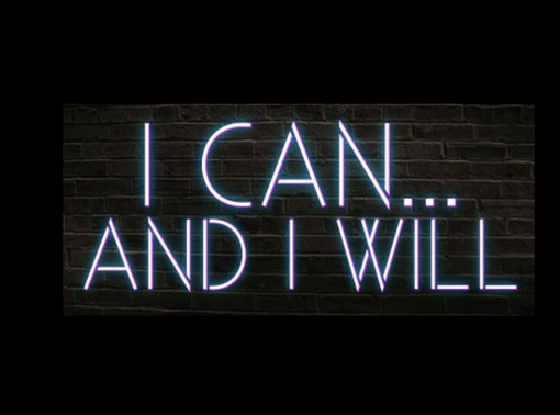 Custom Made I Can And I Will Neon Sign