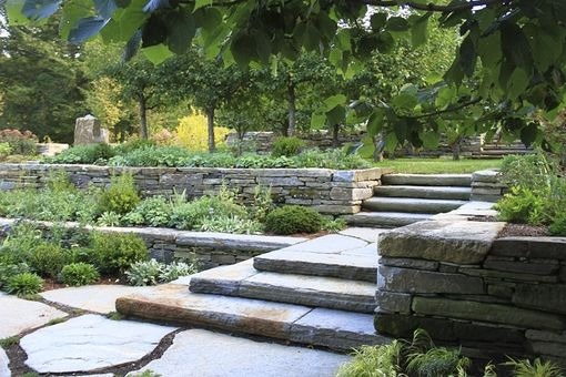 Custom Made Stone Walls, Steps, And Patio
