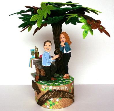 Custom Made Engagement Wedding Cake Topper Look Alike