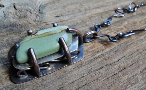 Custom Made Owyhee Jasper And Copper Necklace
