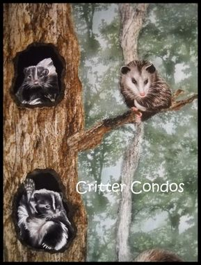 Custom Made Critter Condos Quilted Wall Hanging