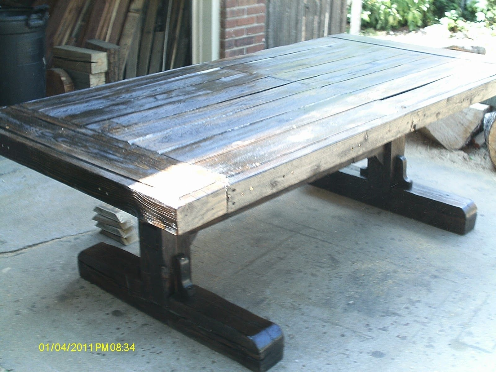 Custom reclaimed barn wood dining table by j gubbins fine Furniture made from barn wood
