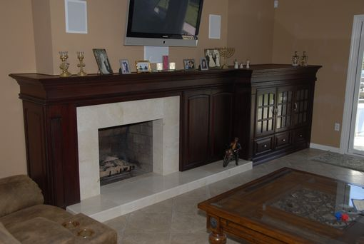 Custom Made Custom Mantel And Entertainment Center Combo