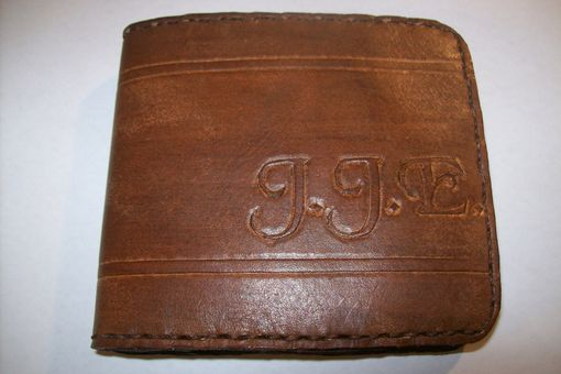 Custom Made Custom Leather Trifold Deluxe Wallet With Personalization In Java Brown