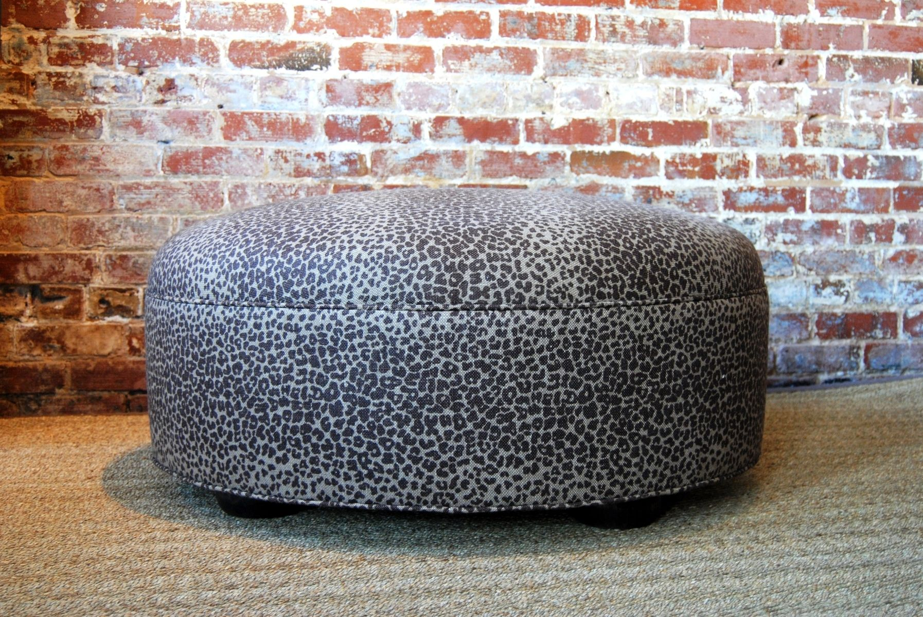 Custom Made Large Leopard Ottoman Coffee Table