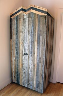 Custom Made Rustic Reclaimed & Sustainably Harvested Wood Coat Closet