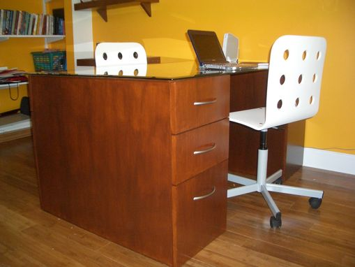 Custom Made Dual Sided Home Office Desk