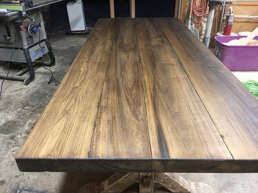 Custom Made Thick Top Farmhouse Table (X-Style)