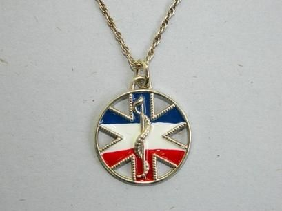 Custom Made Designer Medical Id Jewelry In Sterling Silver And Enamel By Vital Voice Jewelry