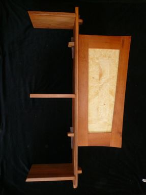 Custom Made 3 Tier Cherry Shelf Cabinet
