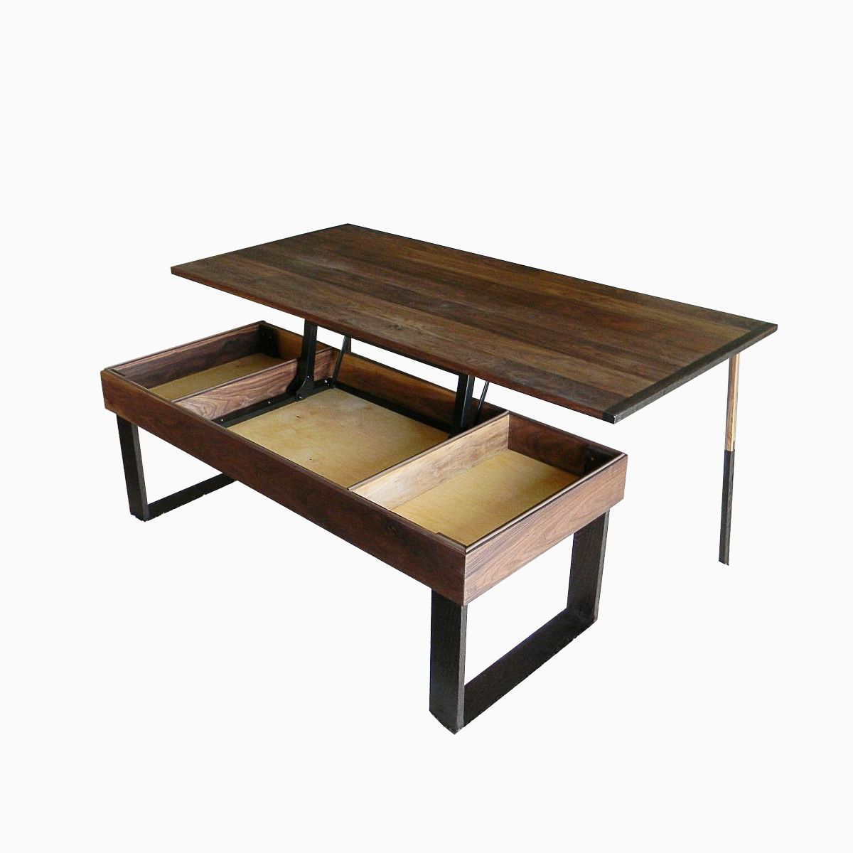Hand made terry 39 s lift top pop up walnut and wenge transformer coffee table by antikea Lifting top coffee table