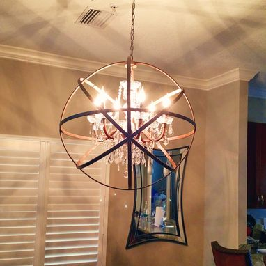 Custom Made Orb Chandelier - 6 Light