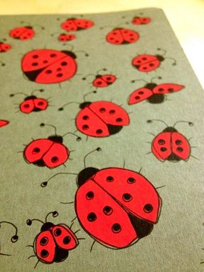 Custom Made Ladybug Hand Illustrated Moleskine Notebook