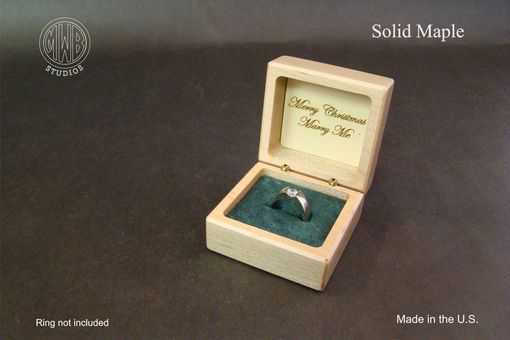 Custom Made Christmas Ring Box With Free Shipping And Engraving.