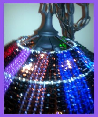 Custom Made Crystal Rainbow Umbrella Light Chandelier